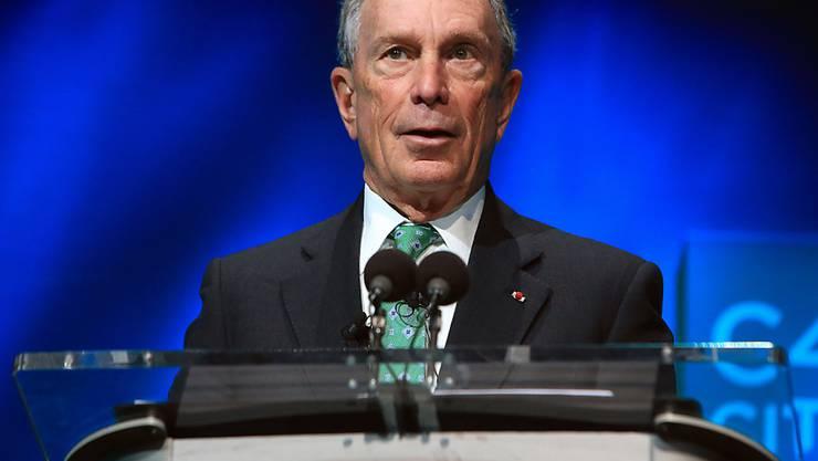 Er sieht keine Chance für einen Wahlsieg bei den US-Präsidentschaftswahlen im November 2016: New Yorks ehemaliger Bürgermeister Michael Bloomberg. (Archivbild)