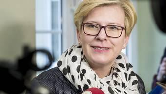 Bei der Präsidentenwahl in Litauen gab es im ersten Wahlgang eine hauchdünne Entscheidung zugunsten von  Ingrida Simonyte (im Bild). Die Stichwahl findet am 26. Mai statt. (Archivbild)
