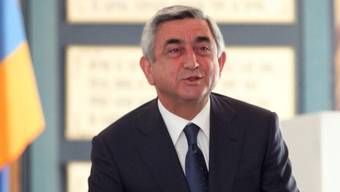 Der armenische Präsident Sersch Sargsjan