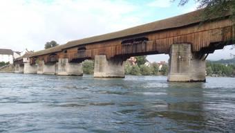 Die Holzbrücke zwischen Stein und Bad Säckingen. (Archiv)