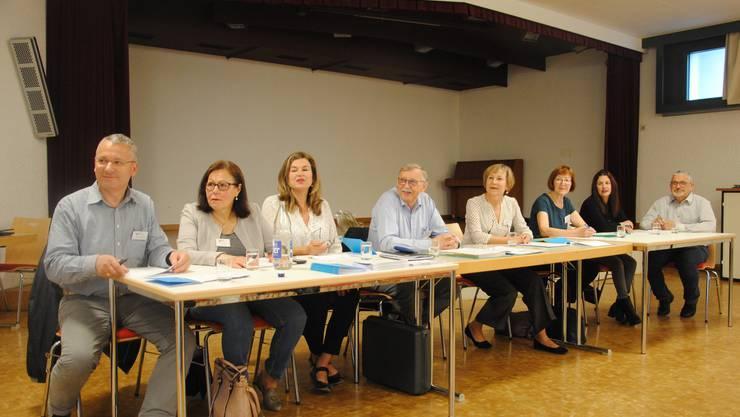 Der Vorstand (von links): Dominique Barreaux, Arja Hagmann, Belinda Macia-Meyer, Kurt Fischer, Elisabeth Egli, Beatrice Ris (neu), Emanuela Libertini und Ueli Käser