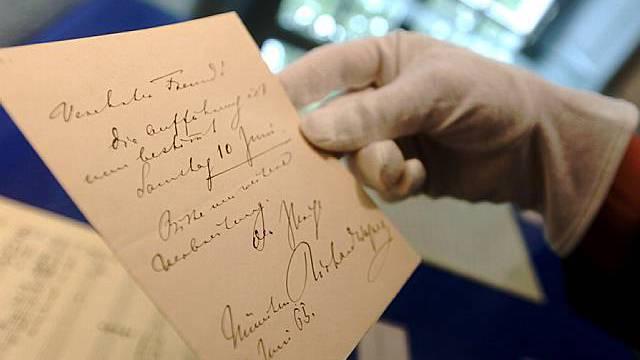 Briefwechsel im Richard Wagner Museum auf Tribschen in Luzern zu sehen (Archiv)