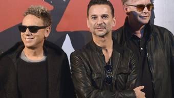 Matin Gore, Dave Gahan und Andrew Fletcher von Depeche Mode (Archiv)