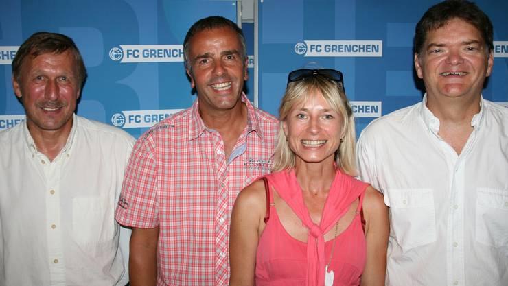 Geschäftsleitung mit Peter Baumann (v.l.), Rolf Bieri, Dominique Schadebach und Gilbert Uebelhardt schaut optimistisch in die Zukunft. mbg