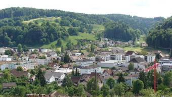 Blick über Gränichens Dorfzentrum