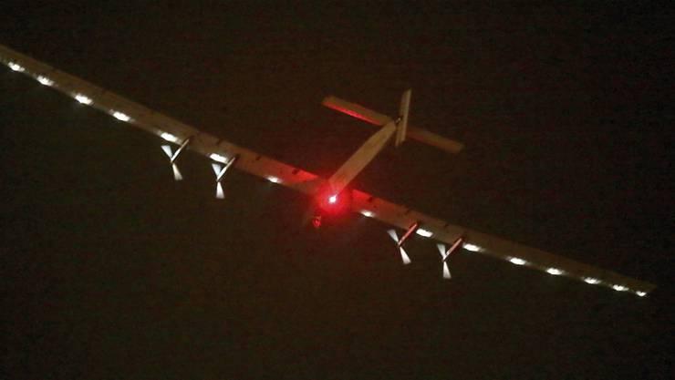 Die Solar Impulse beim Start in Nanjing