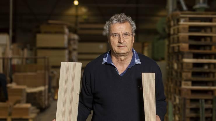 Holzkerne für Ski, das war einst «Big Business». Geschäftsführer Daniel Hess sagt: «Mitte 90er machten wir 70 Prozent unseres Umsatzes damit – heute sind es noch 35 Prozent.»