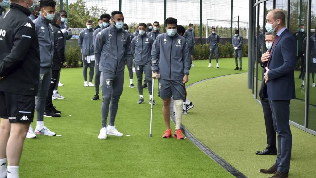 Fussballfan Prinz William eröffnet Trainingszentrum beim Lieblingsclub