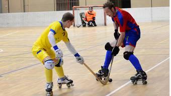 RHC-Crack Tobias Mohr (rechts) erzielte gegen Biasca einen Treffer.