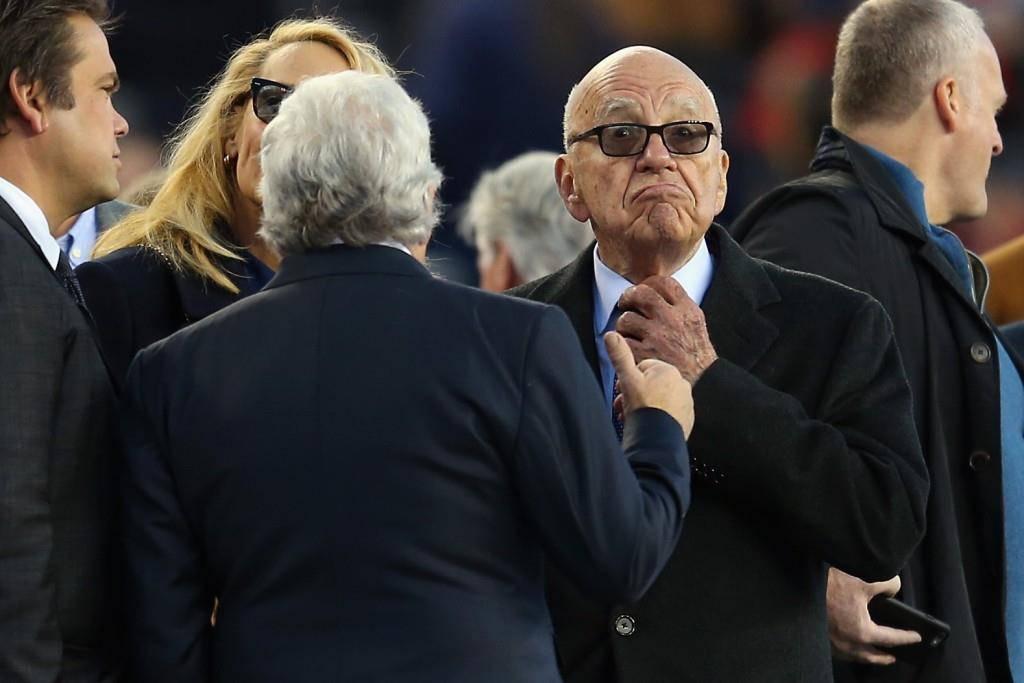 Rupert Murdoch im Dezember 2015 bei einem Spiel. (© Getty Images)