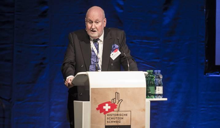 Carl Baudenbacher, Ex-Präsident des Efta-Gerichtshofs, bei den Historischen Schützen Schweiz.