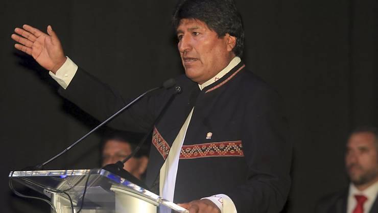 Verfassungsgerichtsentscheid: Der ehemalige Kokabauer und Sozialist Evo Morales darf auch 2019 wieder zu den Präsidentenwahlen in Bolivien kandidieren. (Archivbild)