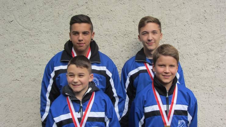 Die Sieger der Jugend-Gruppen Meisterschaft.
