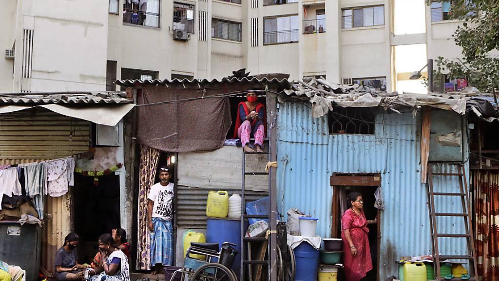 Corona-Lockdown in einem Slum in Mumbai. (Archivbild)