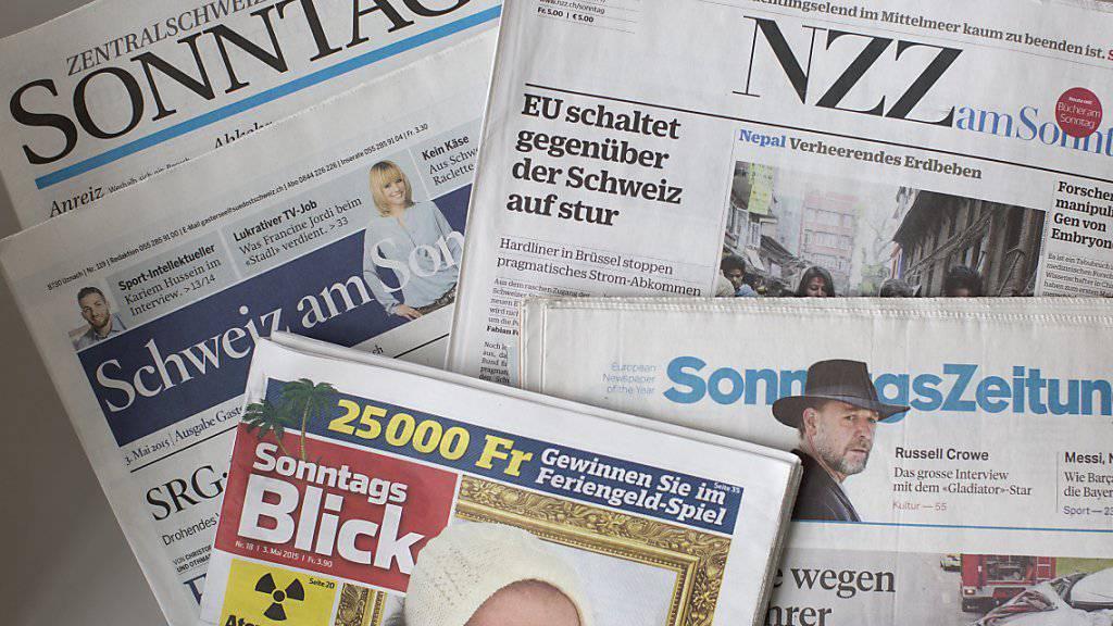 Eine Auswahl der Sonntagszeitungen (Archivbild)