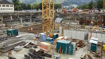 """Die Bauarbeiten der """"swissporarena"""" verzögern sich weiter"""
