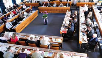 Blick in den Landratssaal.  (Nicole Nars-Zimmer)