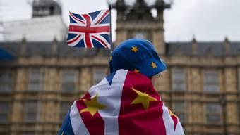 Eine Brexit-Gegnerin in London.