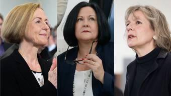 Sie gehen in den 2. Wahlgang: Susanne Schaffner, Marianne Meister und Brigit Wyss.