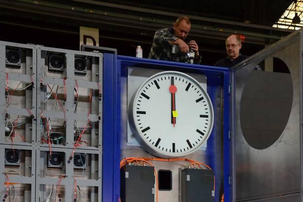 Die neue Anzeigetafel für den Zürcher HB entsteht in Schlieren.