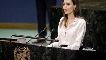 Angelina Jolie während ihrer Rede vor der Uno-Vollversammlung in New York.
