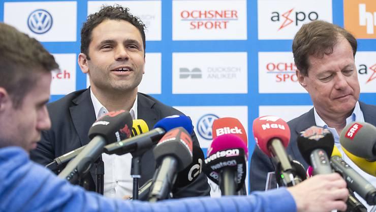 Uli Forte mit GCs neuem Präsidenten Stephan Rietiker
