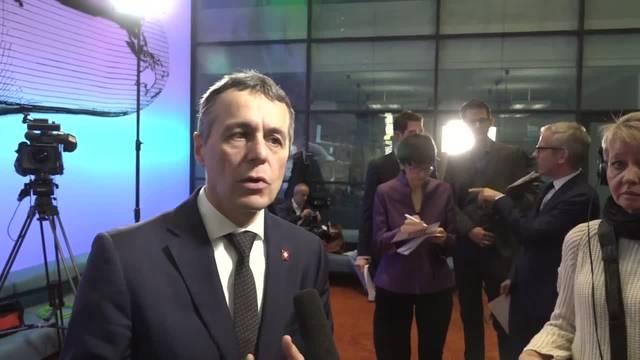 Bundesrat Cassis äussert sich zum Rahmenabkommen mit der EU