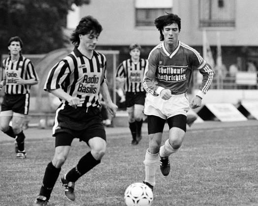 Jogi Löw (rechts) als Spieler in Schaffhausen.