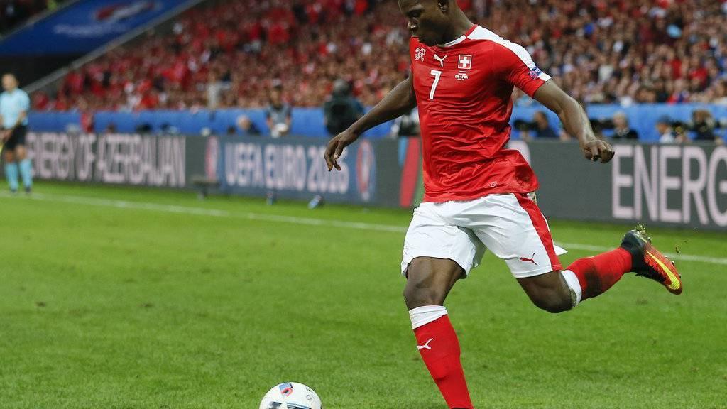 Breel Embolo im EM-Spiel Schweiz gegen Frankreich.