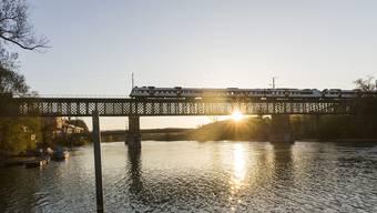 Eisenbahnbrücke Koblenz-Waldshut (31.10.2017)