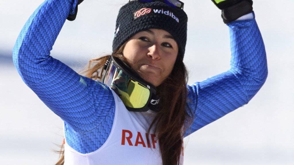 Sofia Goggia siegte zum ersten Mal im Weltcup