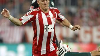 Bayerns Matchwinner Bastian Schweinsteiger traf in der Nachspielzeit zum 2:1-Sieg