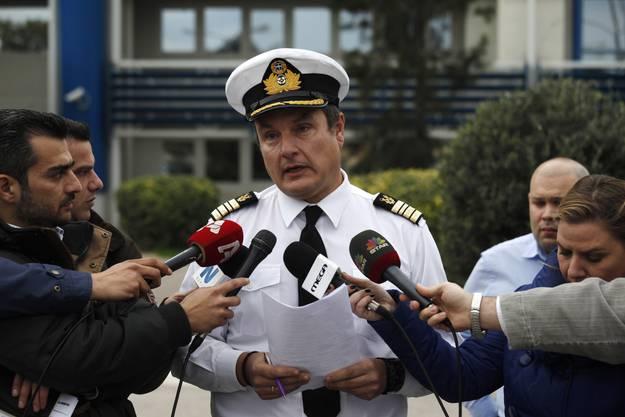 Nikolaos Lagadianos, Sprecher der griechischen Küstenwache, gibt Auskunft über die Rettungsaktion auf der Fähre «Norman Atlantic».
