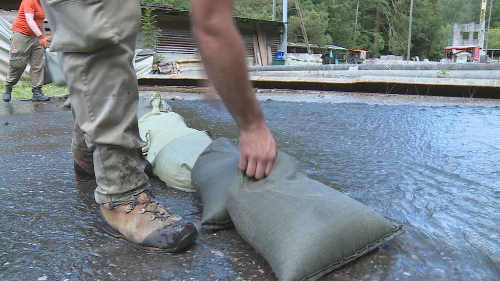 Überschwemmte Strassen und Keller: Schnell reagieren ist alles