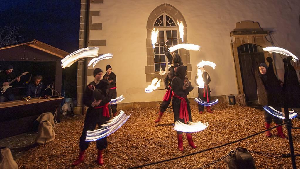 Lichtspektakel in Murten.