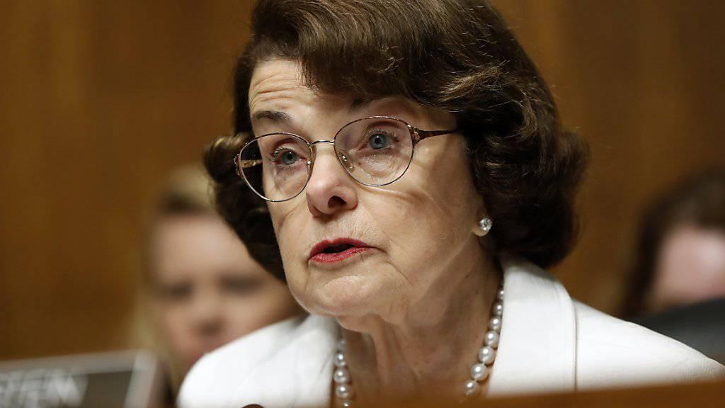 Die älteste US-Senatorin will es mit 84 nochmals wissen: Demokratin Dianne Feinstein aus Kalifornien tritt bei den Wahlen 2018 nochmals an. (Archivbild)