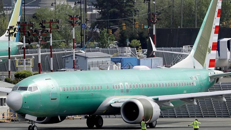 Eine neue Boeing-Maschine des Typs 737 MAX 8 vor einem Testflug in Renton im Bundesstaat Washington. (Archivbild)