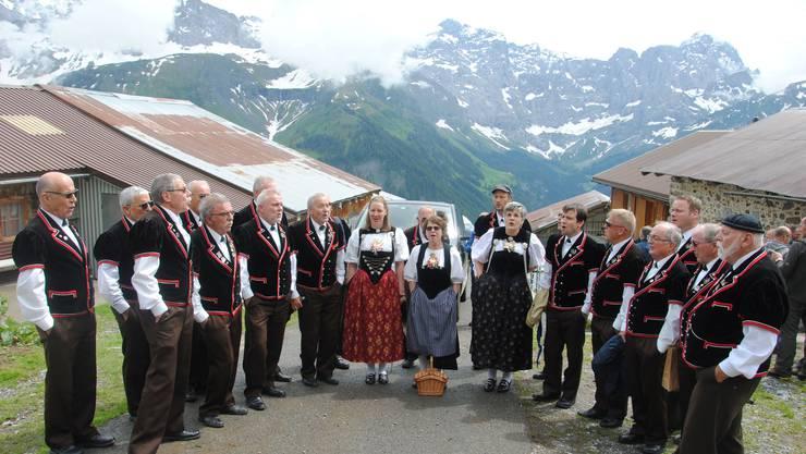 Der Grenchner Jodlerclub Bärgbrünnli konnte für einmal vor alpiner Kulisse auftreten.