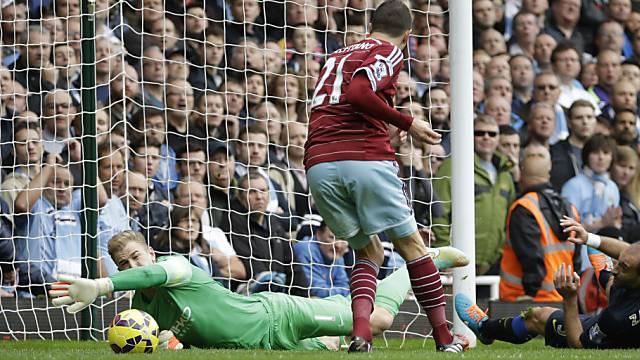 1:0: West Hams Morgan Amalfitano bezwingt ManCity-Keeper Joe Hart