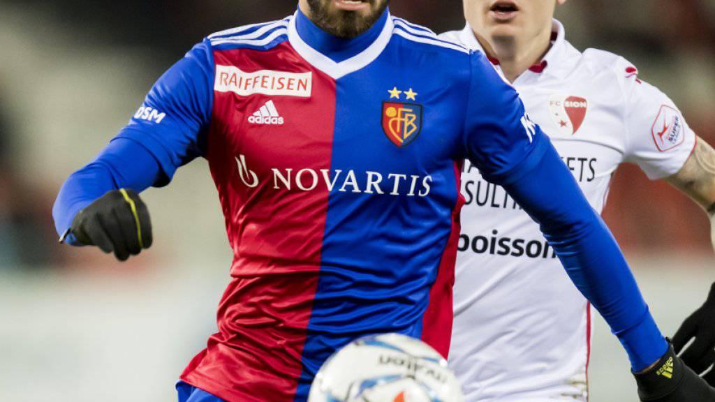 Eray Cömert (vorne) fehlt mindestens vier Super-League-Runden