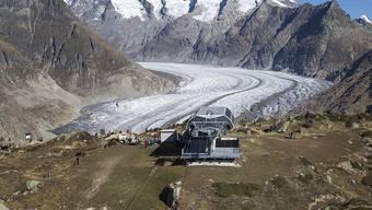 An den Gletschern wird in der Schweiz der Klimawandel sichtbar.  (Symbolbild)