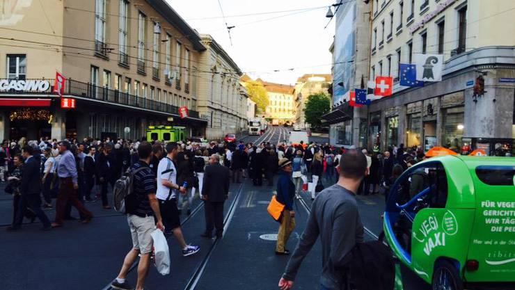 Der Bombenalarm führte zu einem Chaos in der Innerstadt.