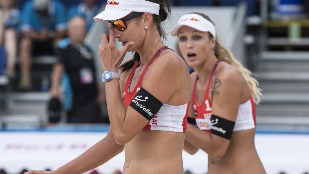 Joana Heidrich (rechts) und Anouk Vergé-Dépré brillieren an den Weltmeisterschaften in Hamburg (Archivbild)