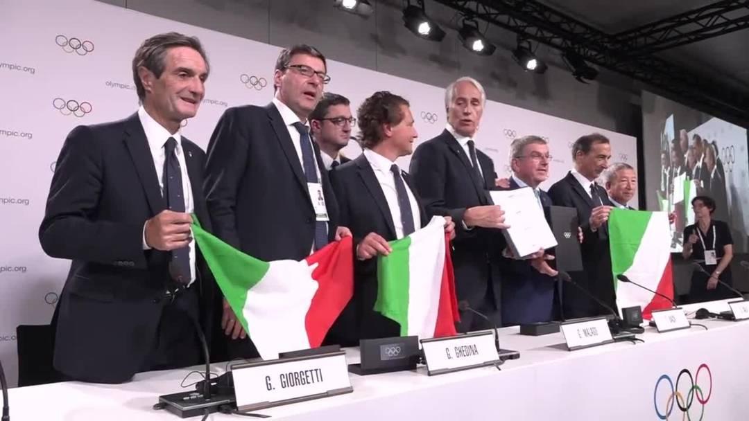 Italien freut sich über die Winterspiele 2026 in Mailand-Cortina