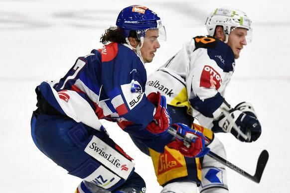 Nächste Saison Teamkollegen: Morant (rechts) wechselt zu den ZSC Lions und Roman Wick.