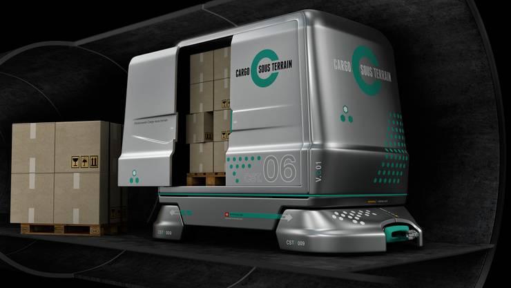 Die Güter sollen unter der Erde transportiert werden - vollautomatisch und mit Ökostrom.