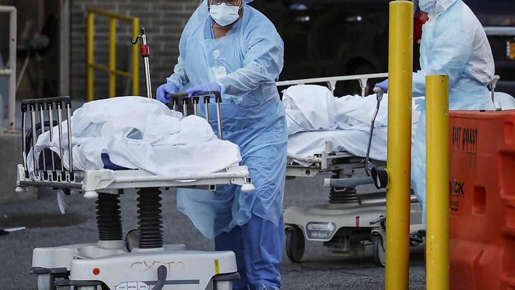 Höchststand: 731 neue Tote in New York - Kathedrale als Not-Klinik