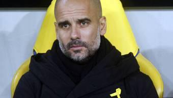 Pep Guardiola trat zuletzt immer mit gelber Schleife auf