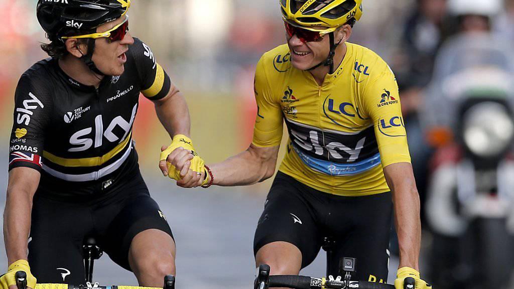 Die Tour de France 2017 (rechts der letztjährige Sieger Chris Froome) startet auf einer Atlantik-Insel