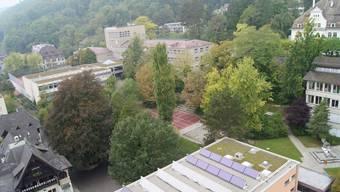 Hauptfeld künftiger Investitionen: Das Burghalden-Areal wird zum Oberstufenzentrum.Archiv